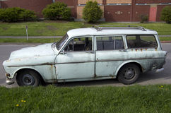 Old broken car wagon Royalty Free Stock Photography