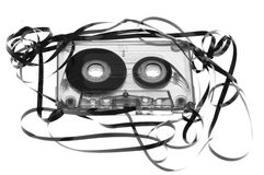 Old broken cassette Royalty Free Stock Image