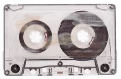 Old broken cassette. Stock Photos