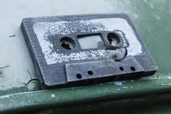 Old broken cassette stock image