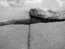 Old Broken Cement Cracked Royalty Free Stock Photography