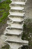 Old broken concrete stairs up Royalty Free Stock Image