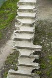 Old broken concrete stairs up Stock Photography