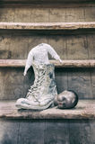 Old broken doll Stock Photography