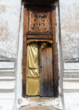 Old broken door. Old broken door to the ancient church of the Thai temple .(Public area not required Property Release Royalty Free Stock Photo