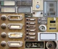 Old and broken doorbells Stock Photography