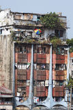 Old broken down building in Manila in the Philippines Royalty Free Stock Photography