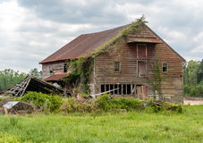 Old Broken-down Country House Royalty Free Stock Photos