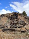 Old Broken Down Mine in Leadville CO Stock Images