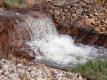 Old Broken Down Mine water source in Leadville CO Royalty Free Stock Images