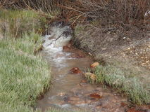 Old Broken Down Mine water source in Leadville CO Royalty Free Stock Image