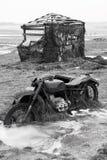 Old broken german motorcycle Royalty Free Stock Photo