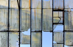 Old broken glass roof Royalty Free Stock Photos