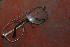 Old broken glasses Royalty Free Stock Photo