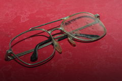 Old broken glasses Stock Photos