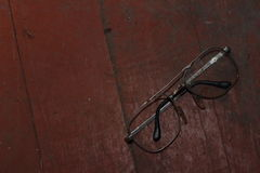 Old broken glasses Royalty Free Stock Image