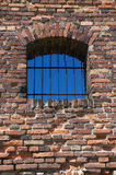 Old broken grated window Royalty Free Stock Photography
