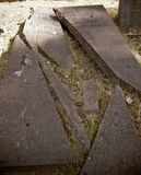 Old  broken grave slab Royalty Free Stock Photography