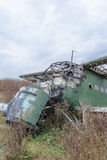 Old broken green russian airplane Royalty Free Stock Photography
