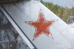 Old broken green russian airplane Royalty Free Stock Photos