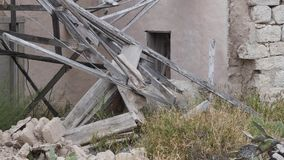 Old broken house stock video footage