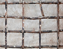 Old broken iron lattice Royalty Free Stock Photo