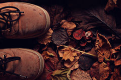 Old broken leather shoes Stock Photography