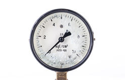 Old Broken Manometer - Pressure Gauge Stock Photos