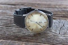 Old broken men wristwatch Royalty Free Stock Photo