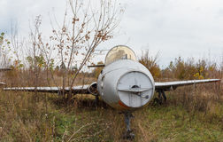 Old broken military russian airplane Royalty Free Stock Photography