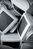 Old broken monitors. stock images