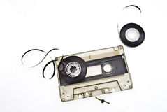 Old broken music cassette Royalty Free Stock Photos