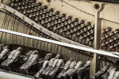 Old broken piano. Dirty - Stock Photo royalty free stock photography