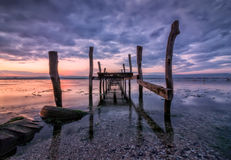 Old broken pier Royalty Free Stock Images