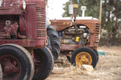 Old broken rusty farm tractor machinery Royalty Free Stock Photo