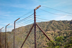 Old Broken Rusty Fence Royalty Free Stock Images