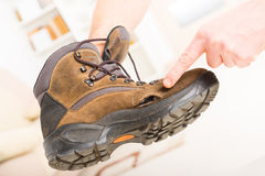 Old broken shoe Royalty Free Stock Images