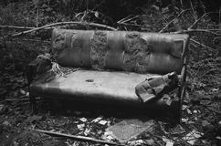 Old broken sofa. Royalty Free Stock Photos