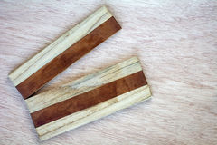 Old broken stripe wood cutting board Royalty Free Stock Photography