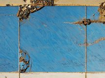 Old broken tiles Stock Images