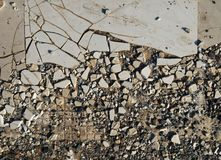 Old broken tiles Royalty Free Stock Photography