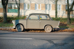 Old Broken Trabant Car. An old broken trabant car Stock Images
