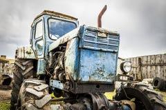 Old broken tractor Stock Images
