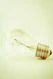 Old broken tungsten light bulb Royalty Free Stock Photography