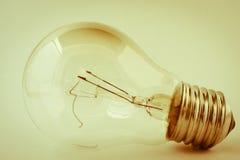 Old broken tungsten light bulb Royalty Free Stock Image