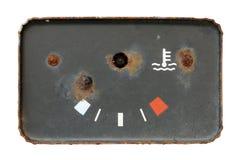 Old broken used oil gauge Royalty Free Stock Images