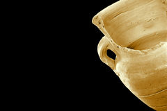 Old broken vase. Broke but still beautiful Royalty Free Stock Image