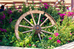 Old broken wagon wheel Stock Image