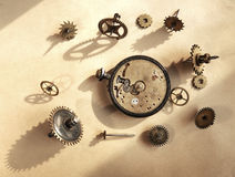 Old broken watch Royalty Free Stock Photography