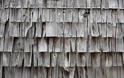 Old broken weathered shingles Stock Photos